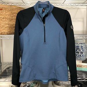 KERRITS | Pullover half zip sweatshirt top blue M